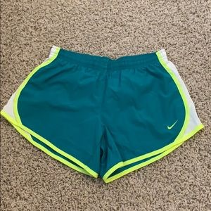 Nike Dri Fit Teal & Neon Shorts! Great condition!